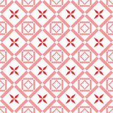 Geometric abstract pattern. Geometric abstract seamless red pattern on white background Stock Image