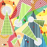 Geometric abstract pattern with textured triangles. Abstract design poster, cover, fabric, card, package, wrapping paper. Geometric abstract pattern with vector illustration