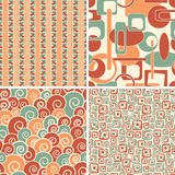 Geometric abstract patterns. In set Royalty Free Stock Photos