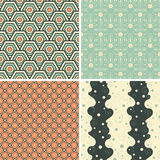 Geometric abstract patterns. In set Royalty Free Stock Image
