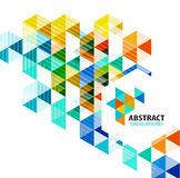 Geometric abstract polygonal background Royalty Free Stock Photography