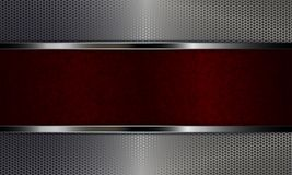 Geometric red background with spots like camouflage with shiny border and metal grille. Geometric abstract red background with spots like camouflage with shiny vector illustration