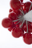 Geometric abstract red berries modern architectural ensemble pie Royalty Free Stock Photo