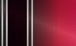 Geometric red mesh background with stripes of light metallic hue with rivets, frame. Geometric abstract red, pink background with stripes of light metallic Royalty Free Stock Photos