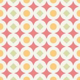 Geometric abstract retro seamless pattern on white Royalty Free Stock Images