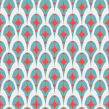 Geometric abstract retro seamless pattern on white Stock Image