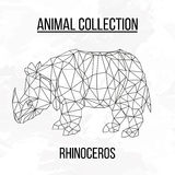 Geometric abstract rhinoceros vector illustration