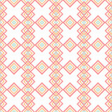 Geometric abstract rhombs seamless pattern on white Royalty Free Stock Images