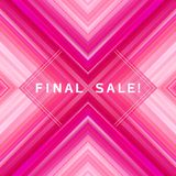Geometric abstract sale banner background, colorful sale futuristic poster design. Geometric abstract sale banner background. Light rays on colorful backdrop Royalty Free Stock Photography