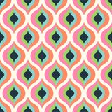 Geometric abstract seamless pattern background. Colorful shapes. Of curves and circles. Square composition, modern trend design Vector Illustration