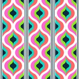 Geometric abstract seamless pattern background. Colorful shapes. Of curves and circles. Square composition, modern trend design royalty free illustration