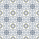 Geometric abstract seamless pattern. Background with watercolor paint brush strokes and stain. Kaleidoscope. Royalty Free Stock Photo