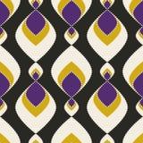 Geometric abstract seamless pattern on black Stock Image