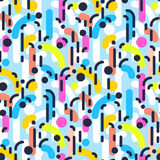 Geometric abstract seamless pattern. Linear motif background Stock Photography