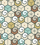 Geometric abstract seamless pattern. Linear motif background Royalty Free Stock Photo