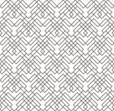 Geometric abstract seamless pattern. Linear motif background. Monochrome decoration design Royalty Free Stock Photography