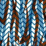 Geometric abstract seamless pattern. Linear zigzag background Royalty Free Stock Photo