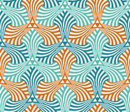 Geometric abstract seamless pattern motif background Stock Photography
