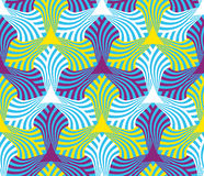 Geometric abstract seamless pattern motif background Royalty Free Stock Photography
