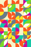 Geometric abstract seamless pattern motif background. Colorful s Stock Images