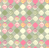 Geometric abstract seamless pattern motif background. Colorful s Stock Image