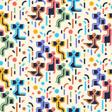Geometric abstract seamless pattern. People dancing party Royalty Free Stock Photo