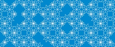 Geometric abstract seamless pattern represent to snowflakes. Christmas and New year decoration. Winter background. Pattern for fabric, textile, wrapping paper Stock Photo