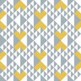 Geometric abstract seamless pattern. Triangle motif background. Stock Photo