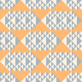 Geometric abstract seamless pattern. Triangle motif background. Royalty Free Stock Photos