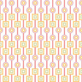 Geometric abstract seamless pattern on white Royalty Free Stock Photo