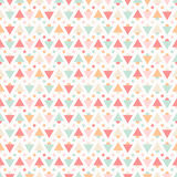 Geometric abstract seamless pattern on white background Royalty Free Stock Photography