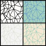 Geometric Abstract Seamless Polygonal Backgrounds Royalty Free Stock Photography