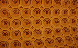 Geometric abstract shapes. Fragment of roof in Vatican CIty stock image