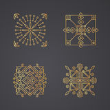 Geometric abstract square icons Stock Photo