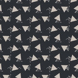 Geometric abstract triangle seamless dark gray vector texture. Royalty Free Stock Photography