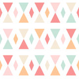 Geometric abstract triangles seamless pattern on w Stock Images