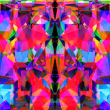 Geometric abstract vivid neon background design Royalty Free Stock Photo