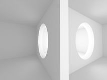 Geometric Abstract White Architecture Design Background. 3d Render Illustration Stock Image