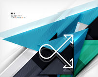 Geometric abstraction business poster Royalty Free Stock Photography