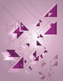 Geometric abstraction on a purple background Royalty Free Stock Photos