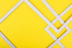 Geometric abstraction. On a yellow background stock image
