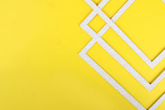 Geometric abstraction. On a yellow background stock images
