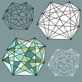 Geometric abstracts. Geometric abstract linear design elements Stock Photos