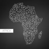 Geometric Africa Madagascar Continent, Dark Version, clean design, easy to customize template. Borders lines and dots in separate layers stock illustration