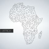 Geometric Africa Madagascar Continent, Light Version, clean design, easy to customize template Stock Photo