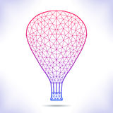 Geometric air ballon. Stock Images