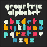 Geometric alphabet Royalty Free Stock Photos