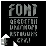 Geometric alphabet. Royalty Free Stock Photos
