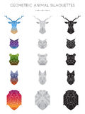Geometric Animal Silhouettes Royalty Free Stock Images