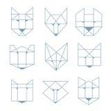 Geometric animals Royalty Free Stock Photos
